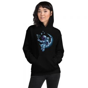 Tron Moon Blue Hoodie for Him or Her