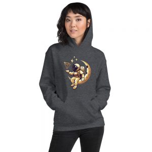 Tron Moon Gold – Hoodie for Him or Her