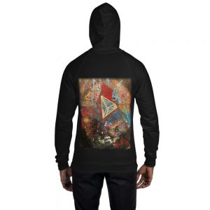 Vlagyimir Popp Limited Edition Fleece Hoodie for Him or Her (Art on Back)