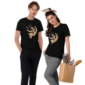 Tron Moon Gold – Organic Cotton T-Shirt (EU Sourced)