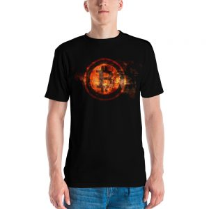 Premium BTC Fire Men's T-shirt