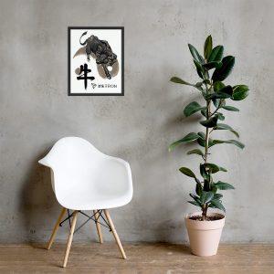 TRON Bull – Framed poster
