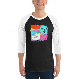 Crypto Clown – by Zen – 3/4 sleeve raglan shirt